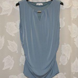 Calvin Klein Blue/Grey Sleeveless Top